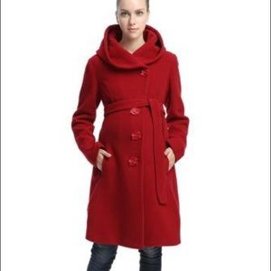 Momo wool belted maternity coat